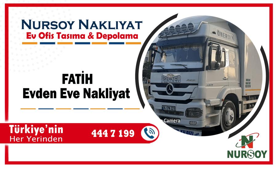 Fatih evden eve nakliyat İstnabul fatih nakliyat şirketi nakliye kamyonu